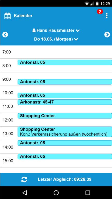 App-Aufgabenkalender