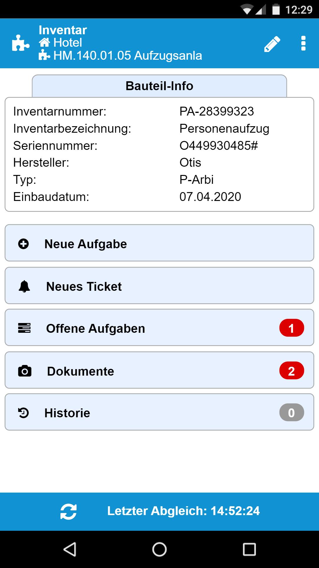 App - Inventarverwaltung